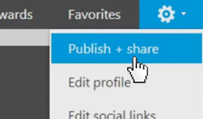 Step 2: Publish + share