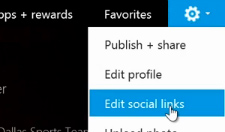Step 2: Edit social links