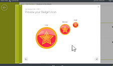 Step 18: Preview your Badge's Icon