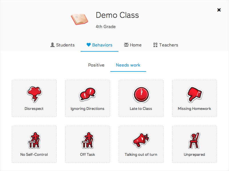 A screenshot from ClassDojo's website